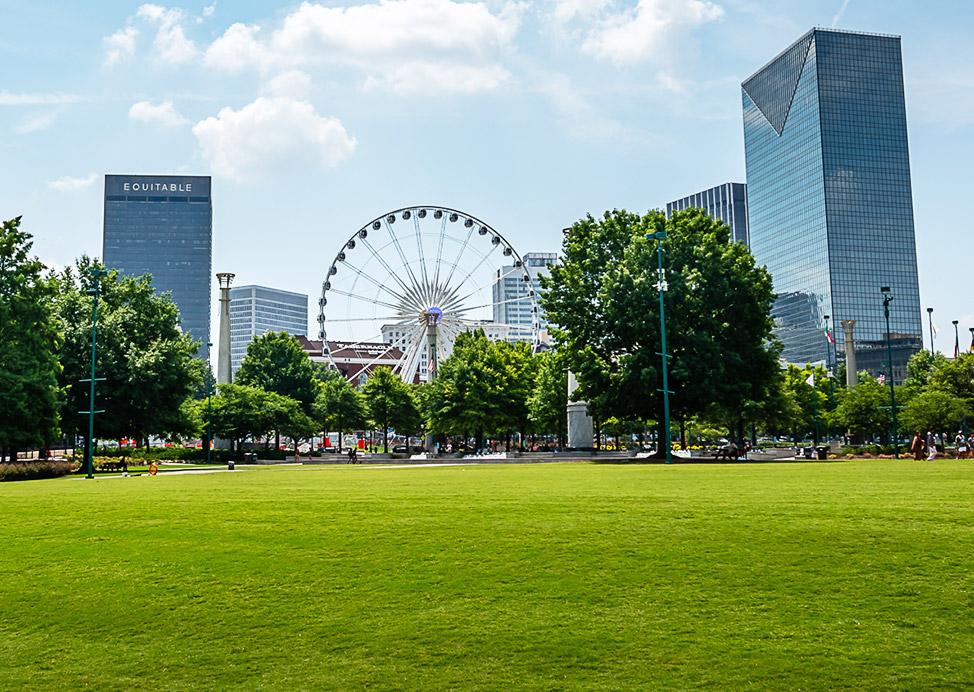 Centennial Olympic Park Near Our Hotel in Atlanta