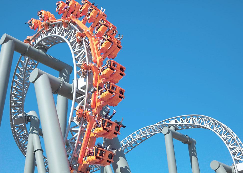 Six Flags Theme Park Near Our Hotel in Atlanta